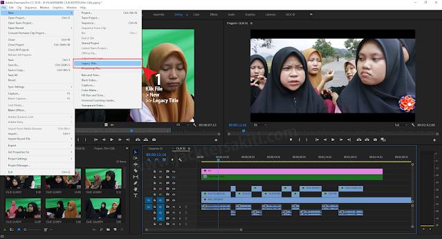 Menambahkan Text/Title Video pada Adobe Premiere Pro CC 2019