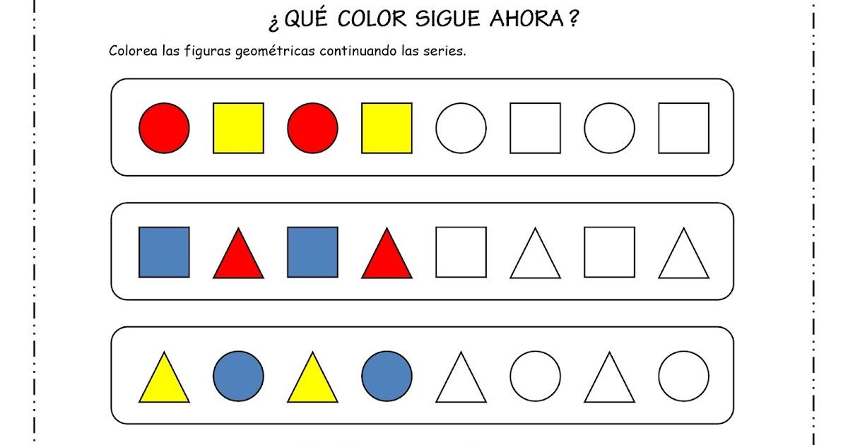 Fichas De Educacion Preescolar Razonamiento Logico Series