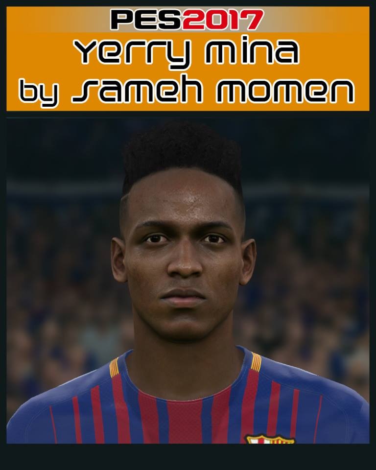 PES 2017 Yerry Mina face by Sameh Momen