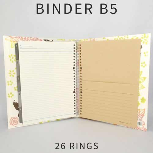 kertas binder b5 26 ring