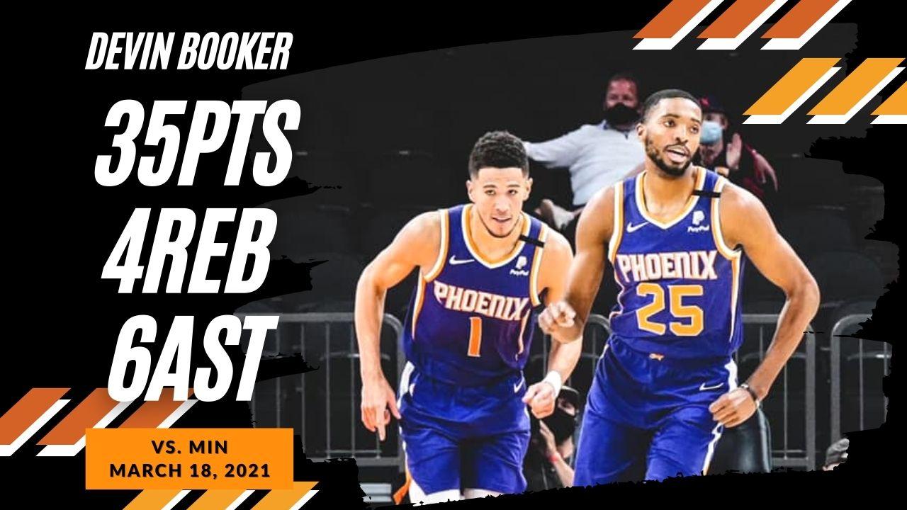 Devin Booker 36pts 6ast vs MIN | March 18, 2021 | 2020-21 NBA Season