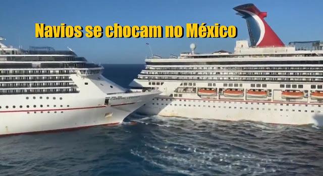Dois Navios de Cruzeiro se chocam no Porto de Cozumel ...