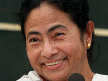Mamata Banerjee in Happy mood