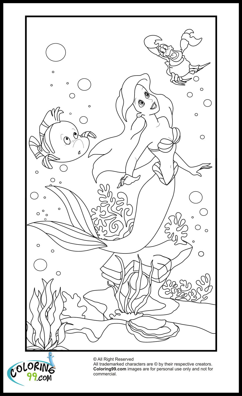 coloring pages ariel