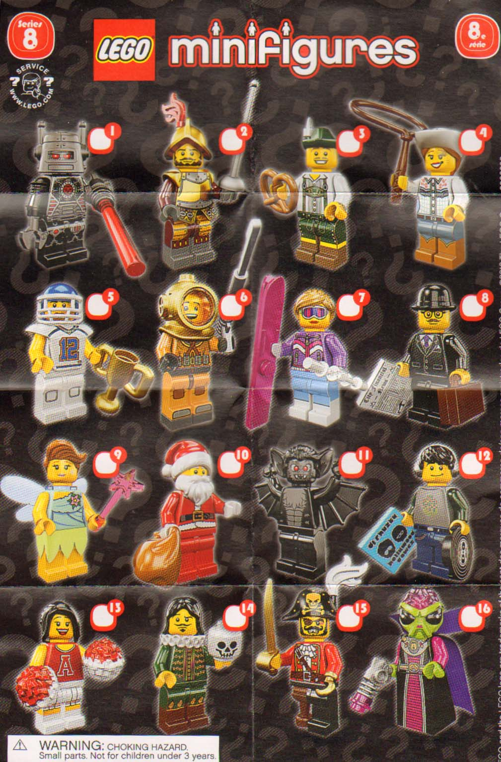 The Minifigure Collector Lego Minifigure Series 8 Rarity