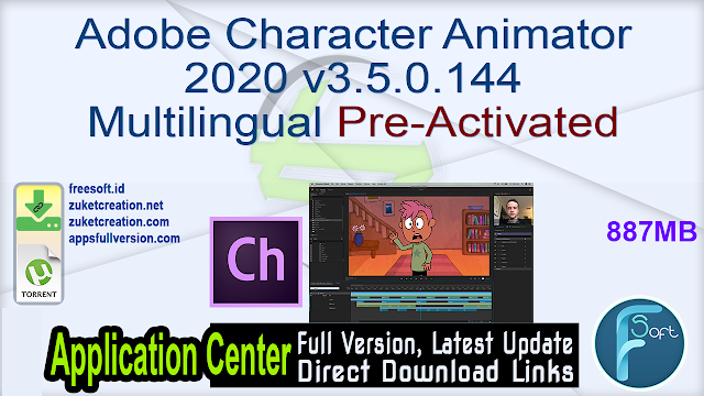 Adobe Character Animator 2020 v3.5.0.144 Multilingual Pre-Activated