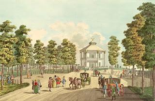 Johann Andreas Ziegler (1749-1802) - El Lusthaus en el Prater, grabado en cobre, 1783.