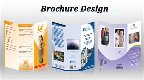 website designing development brochure design