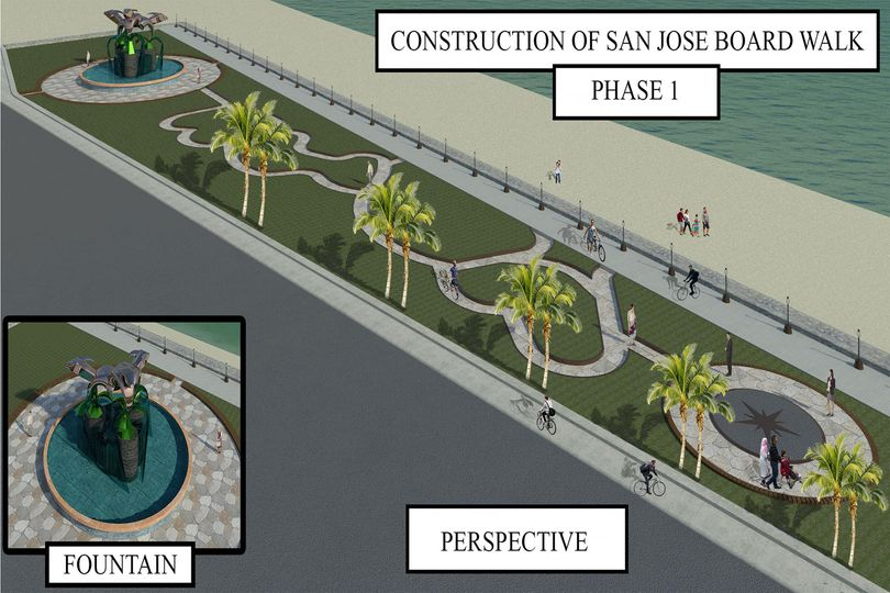 Perspective of the Construction of Aroma Beach Boardwalk (Phase 1) - San Jose Occidental Mindoro