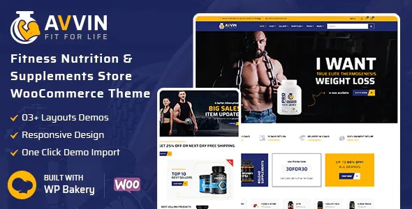 Best Fitness Nutrition and Supplements Store WooCommerce Theme
