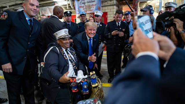 President Trump visiting the NYPD and FDNY on the 20th Anniversary of September11, 2001