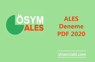 ALES Deneme PDF 2020