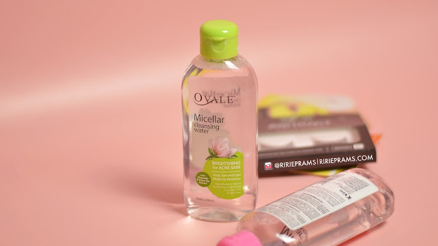 review ovale micellar cleansing water - beauty blogger indonesia - ririeprams