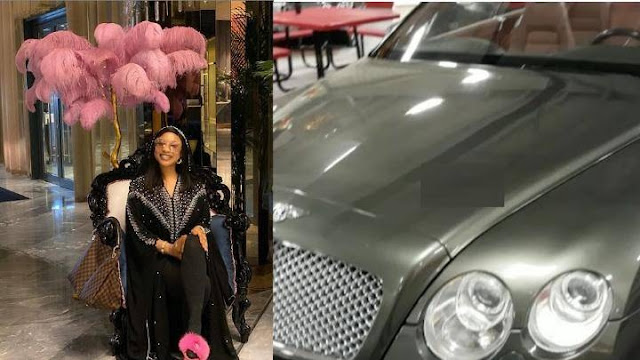 HOT! Check Out The Video Of New Bentley Tonto Dikeh Acquired For Xmas