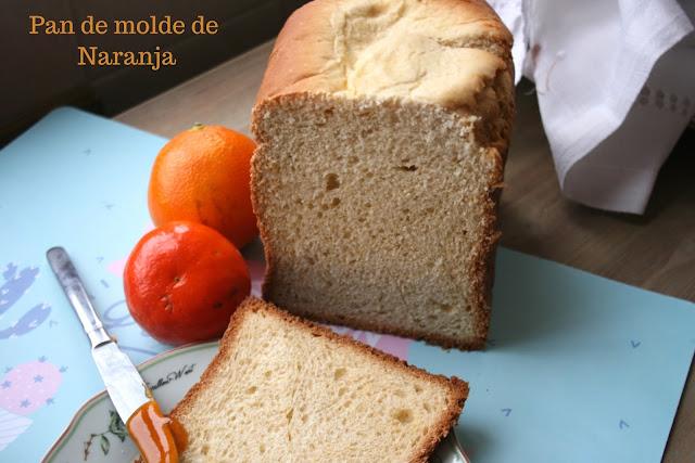 Pan de molde de naranja  ,panificadora
