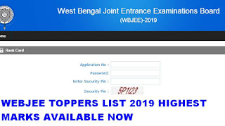 WBJEE Toppers List 2019 Highest Marks now available check here 1
