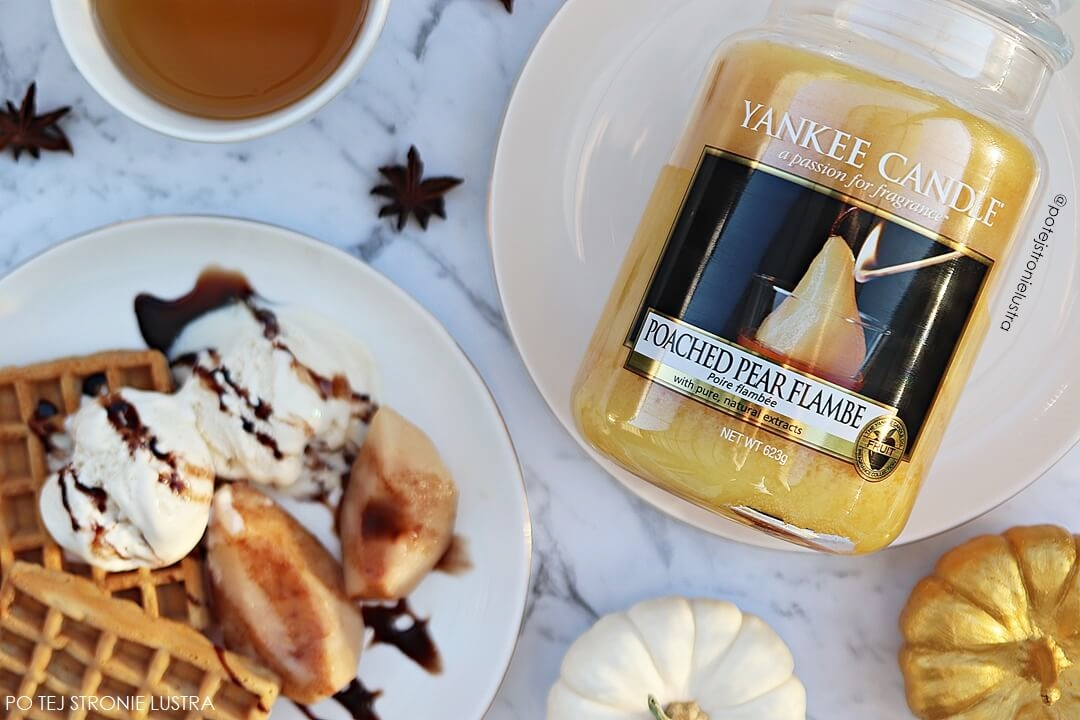yankee candle poached pear flambe nowość 2018