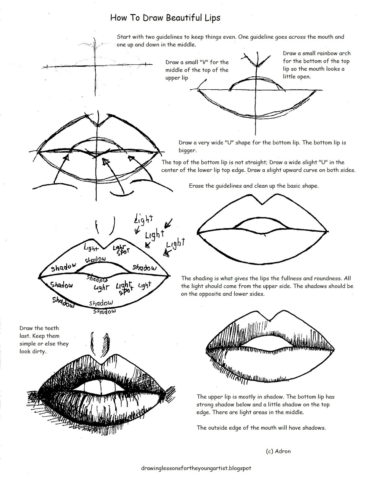 worksheet How To Draw Worksheets how to draw worksheets for the young artist beautiful lips printable worksheet