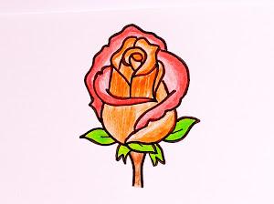 تعلم كيفية رسم وردة سهلة رسم سهل وجميل