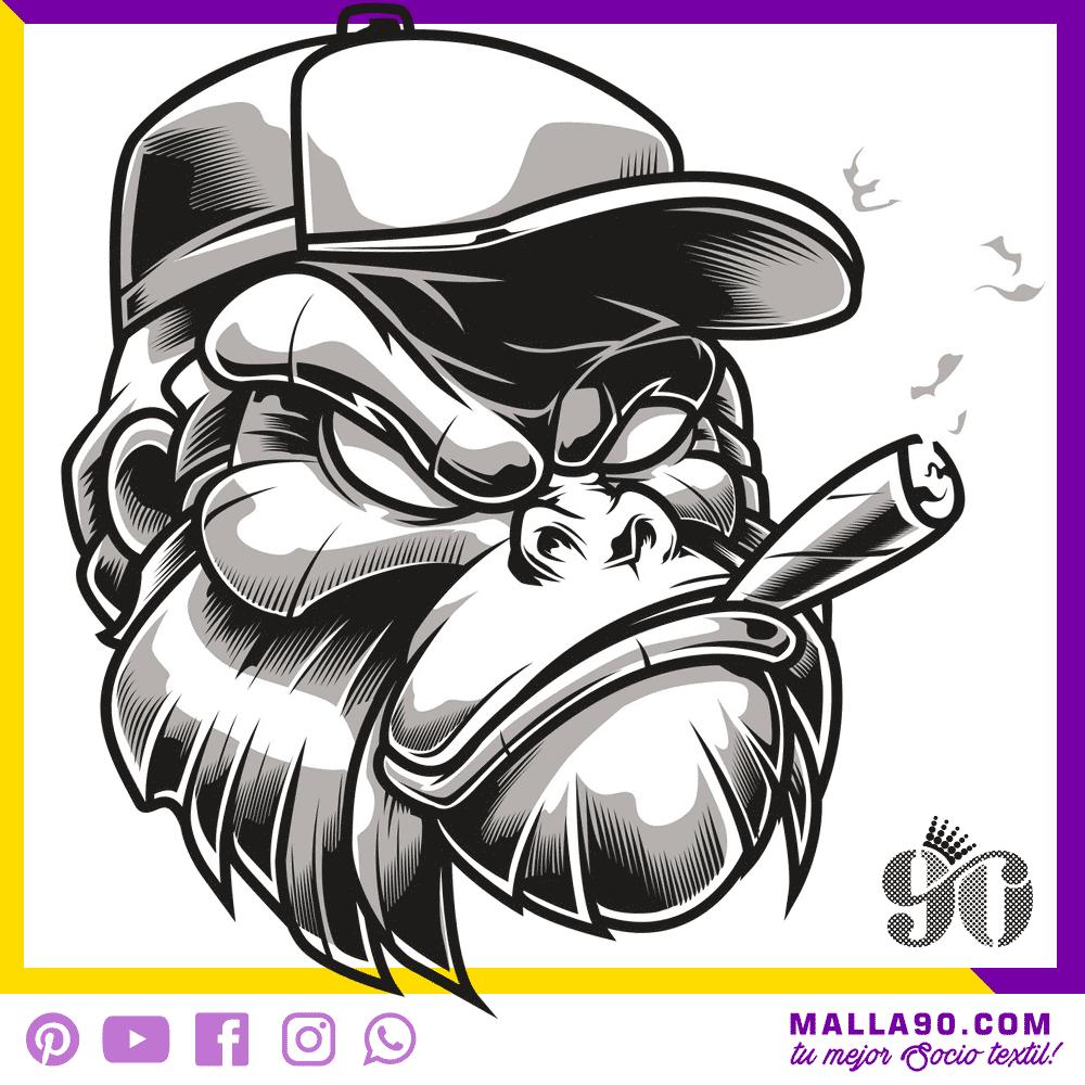 Gorila Fumando puro