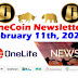 OneCoin Newsletter, February 11th, 2020