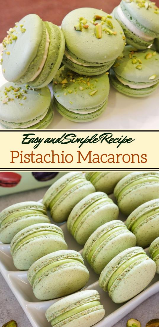 Pistachio Macarons #desserts #cakerecipe #chocolate #fingerfood #easy