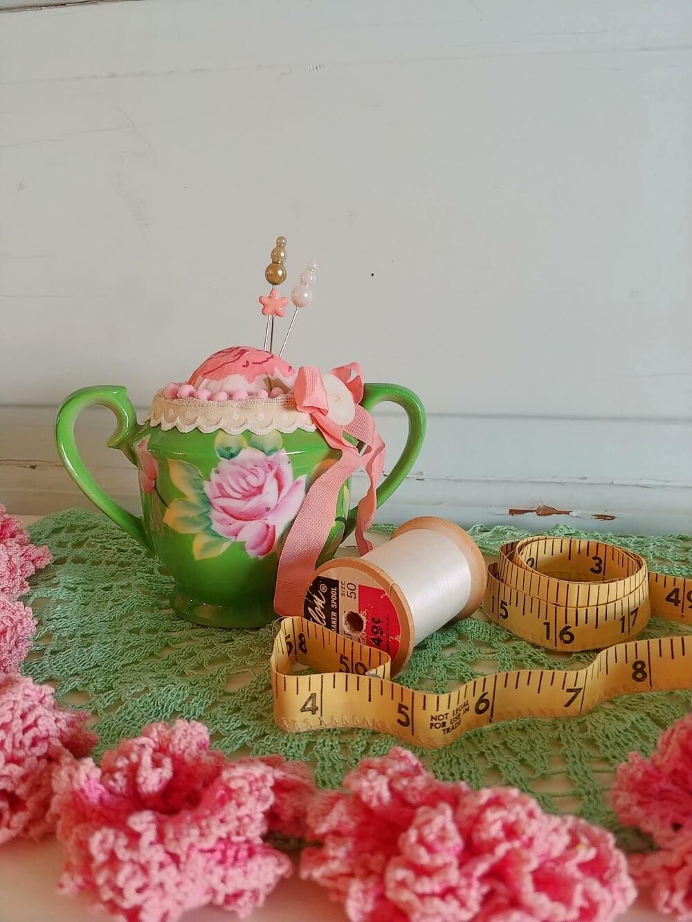 upcycled sugar bowl