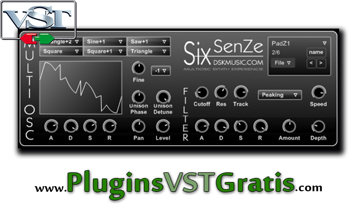 DSK SixSenZe - Baixar Plugin VST Sintetizador Grátis