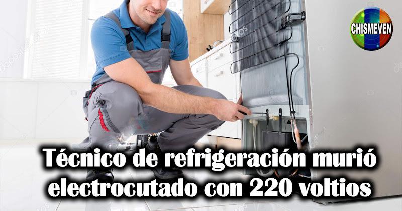 Técnico de refrigeración murió electrocutado con 220 voltios