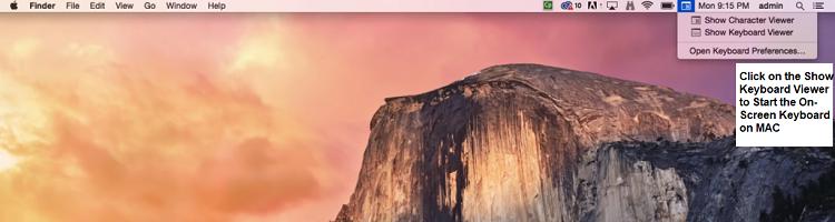mac taskbar keyboard viewer