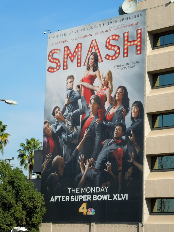 Giant Smash TV billboard