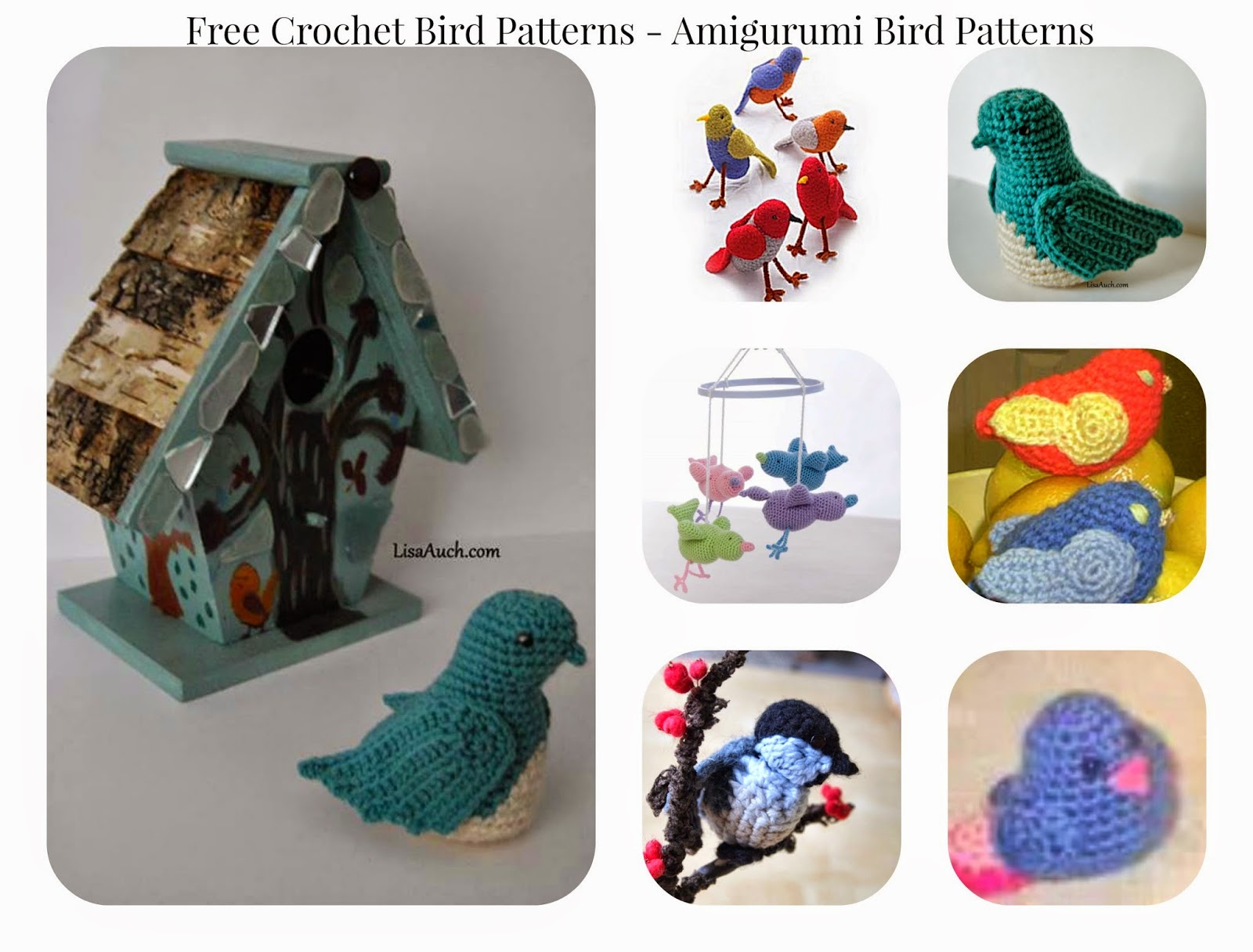 Crochet Bird Amigurumi Free Patterns • DIY How To | 1216x1600