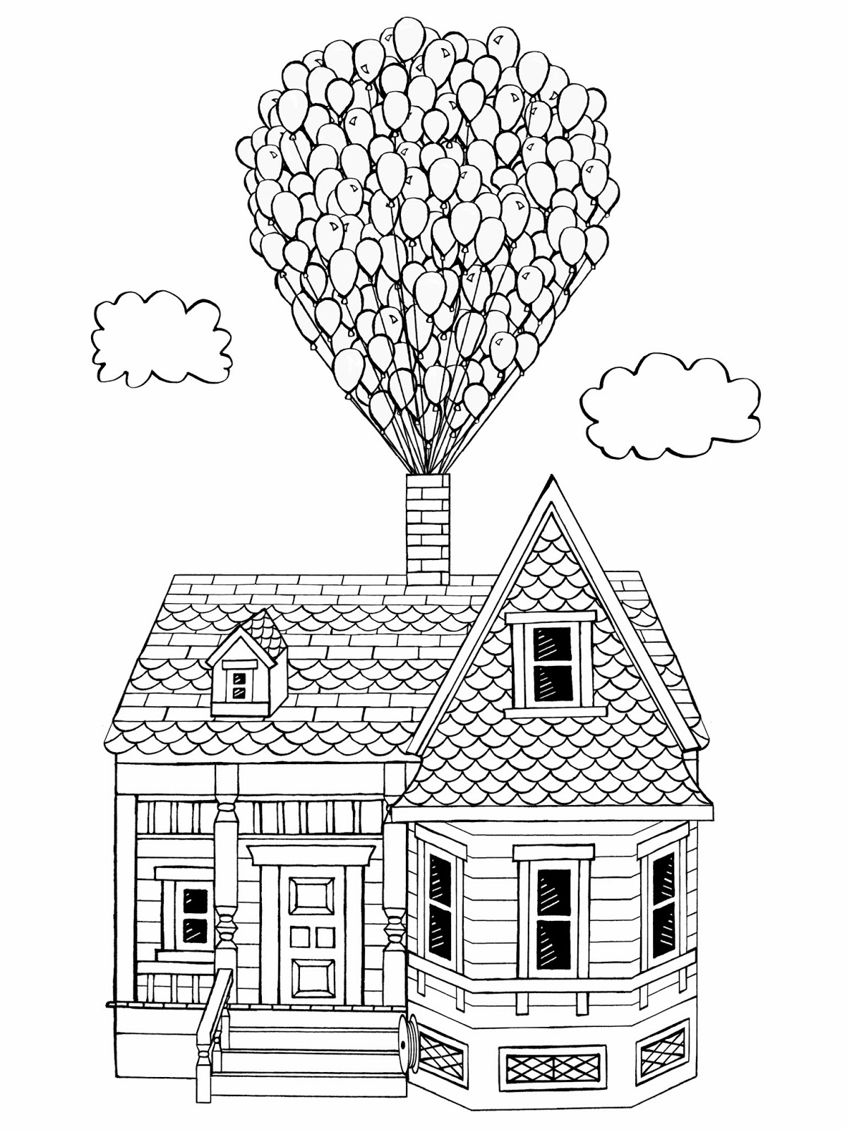 9 Images Of Up House Coloring Page Up Movie Coloring Peach