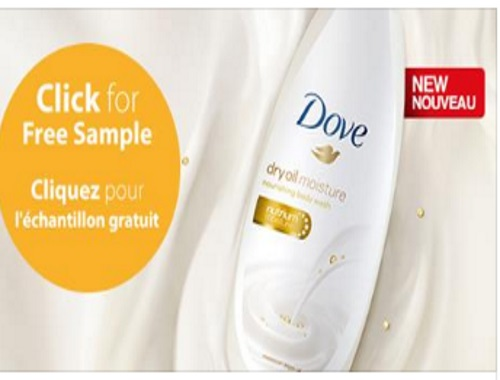 Samplits Dove Free Dry Oil Moisture Body Wash Samples