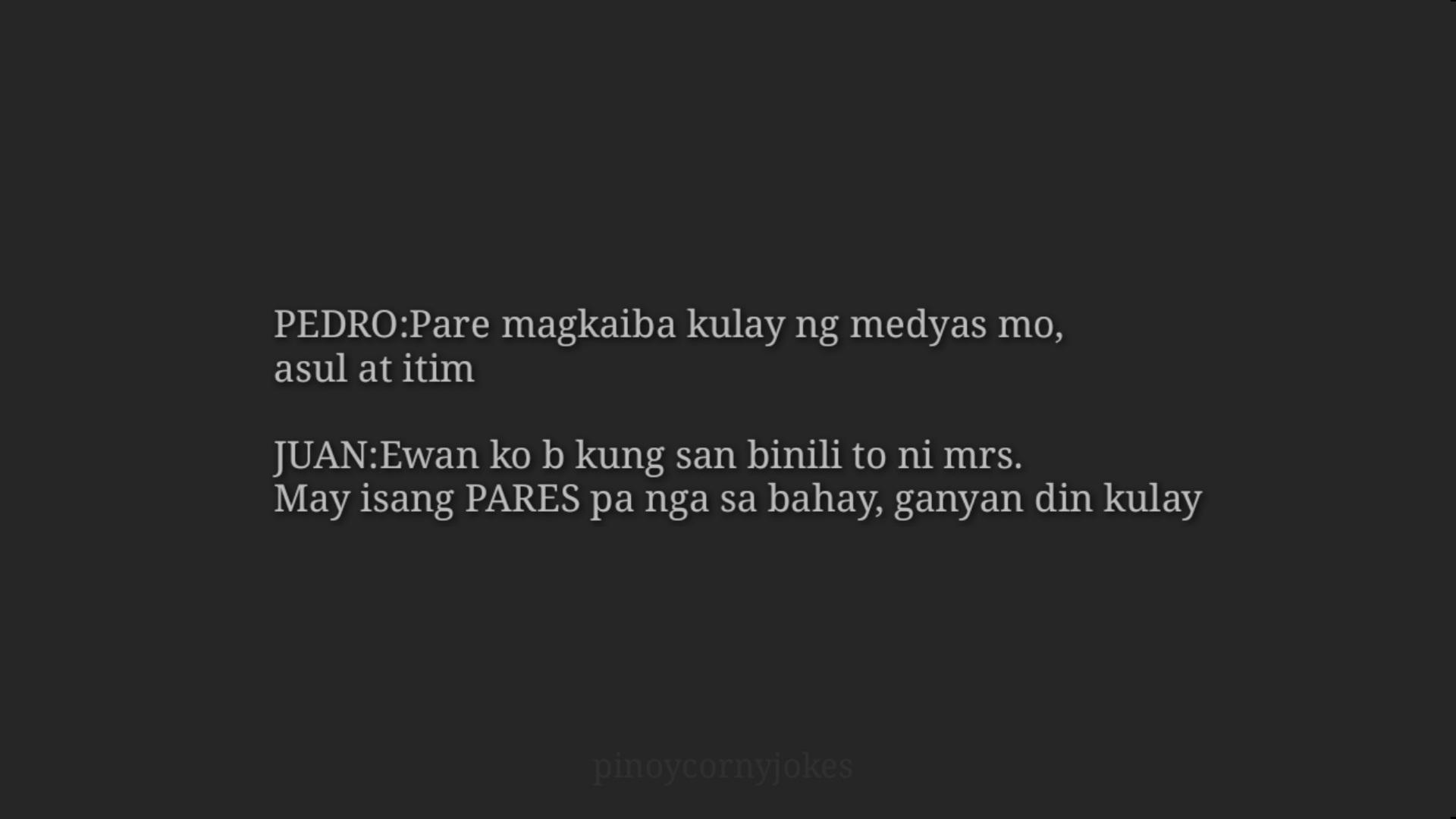 Magkaiba kulay Medyas - Filipino Jokes 2021