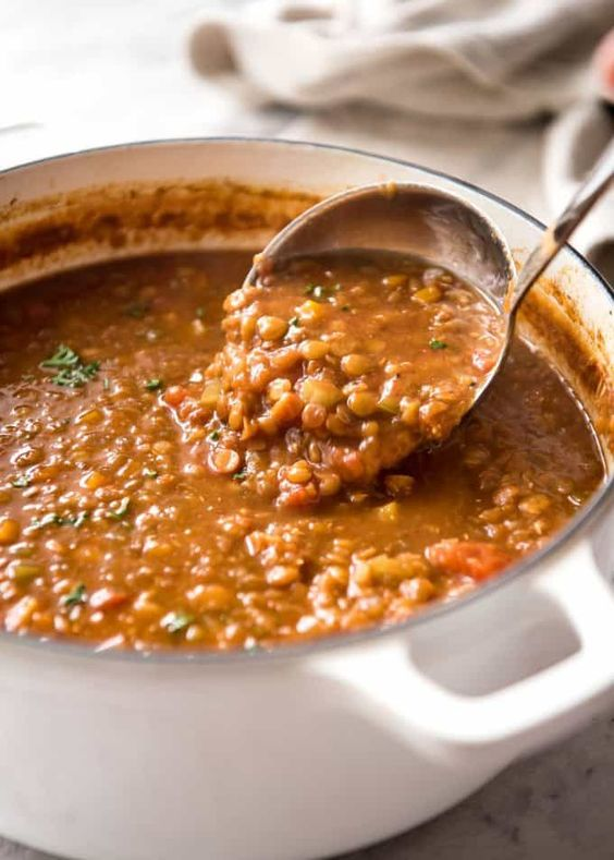 Recipe VIDEO above. Don't settle for a bland lentil soup. Make it right, and you'll have everyone begging for seconds...and thirds! The touch of spices and finishing it off with lemon really lifts this soup to the next level.