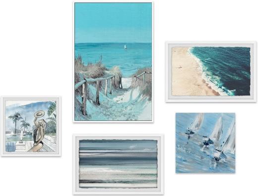 Coastal Wall Art Sets Gallery Walls