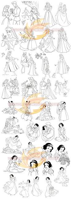 Vector công chúa esa & Hoàng tử công chúa bạch tuyết