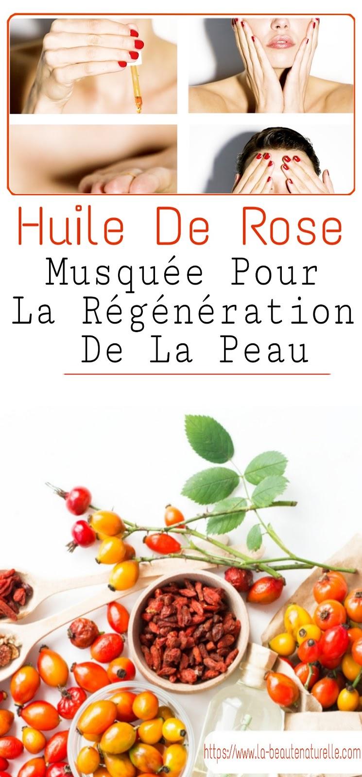 Huile De Rose Musquée Pour La Régénération De La Peau