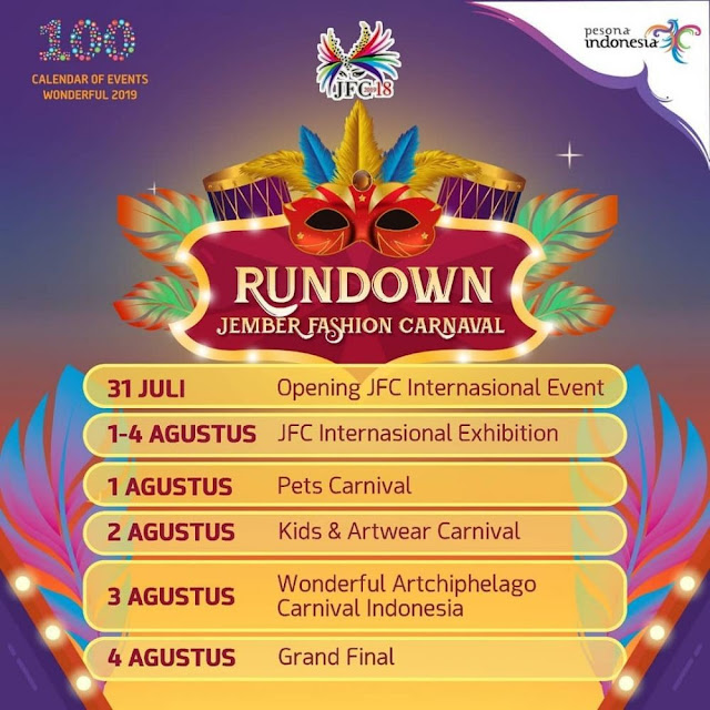 Jadwal Acara Jember Fashion Carnaval 2019