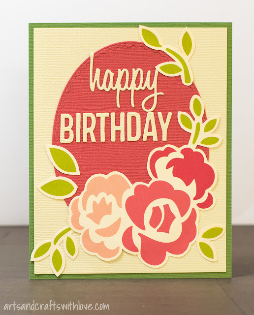 Cardmaking: Easy bithday cards with Sizzix Big Shot and patterned papers