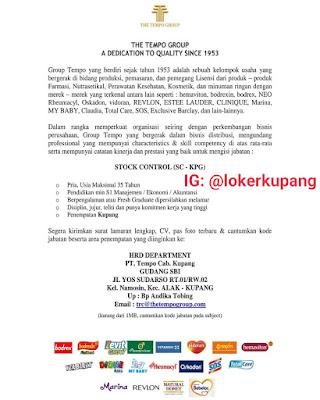 Lowongan Kerja The Tempo Group Sebagai Stock Control (SC - KPG)