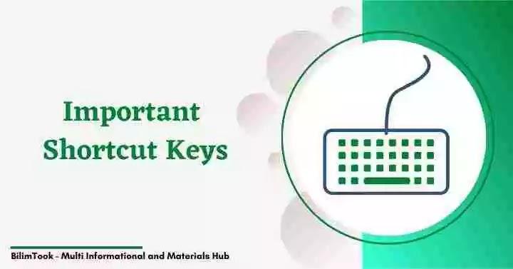 Computer Keyboard All Shortcut Keys List PDF Download