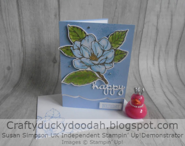 Craftyduckydoodah!, Good Morning Magnolia, JOS Blog Hop Group, Stampin' Up! UK Independent Demonstrator Susan Simpson, Supplies available 24/7 from my online store, watercolour techniques