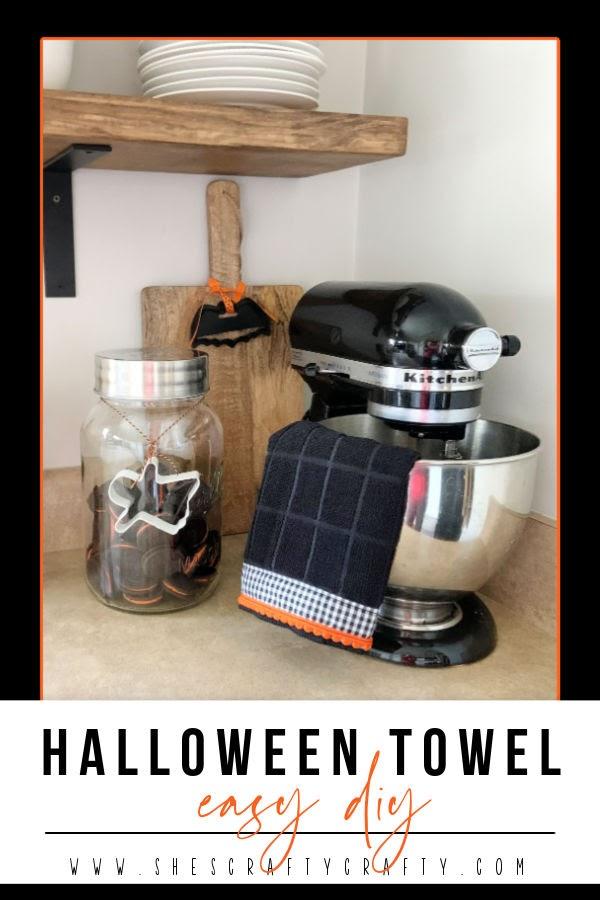 Easy DIY Halloween Towel