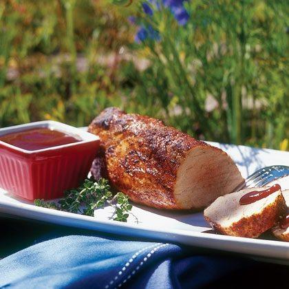 Spice-rubbed Pork Tenderloin with Barbecue Sauce Recipe