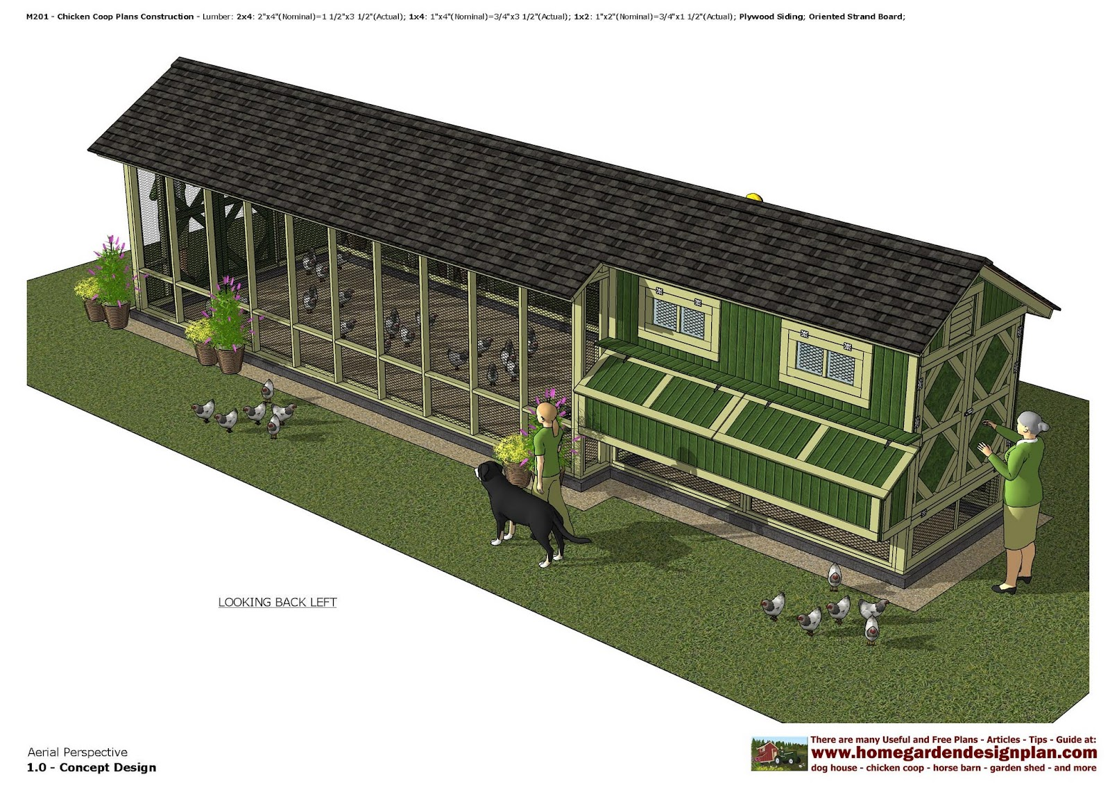 Home garden plans m201 chicken coop plans construction for How to build a chicken hutch