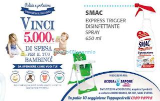 Logo Con Acqua&Sapone vinci 10 seggioloni Foppapedretti