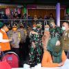 Pangdam Hasanuddin dan Wakapolda Sulsel, Pantau Langsung Rapid Test Covid-19, di Pasar Butung