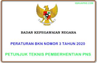 Juknis Pemberhentian PNS (Peraturan BKN Nomor 3 tahun 2020)
